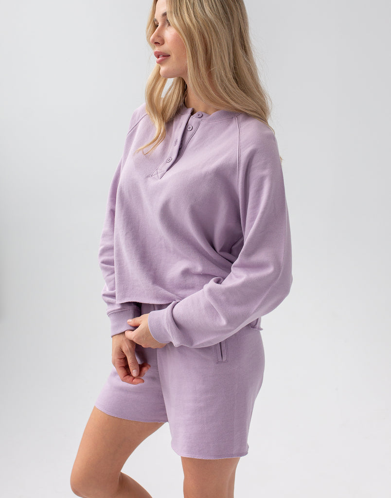 Lavender Crop Sweatshirt Active Collection Yoga Jeans