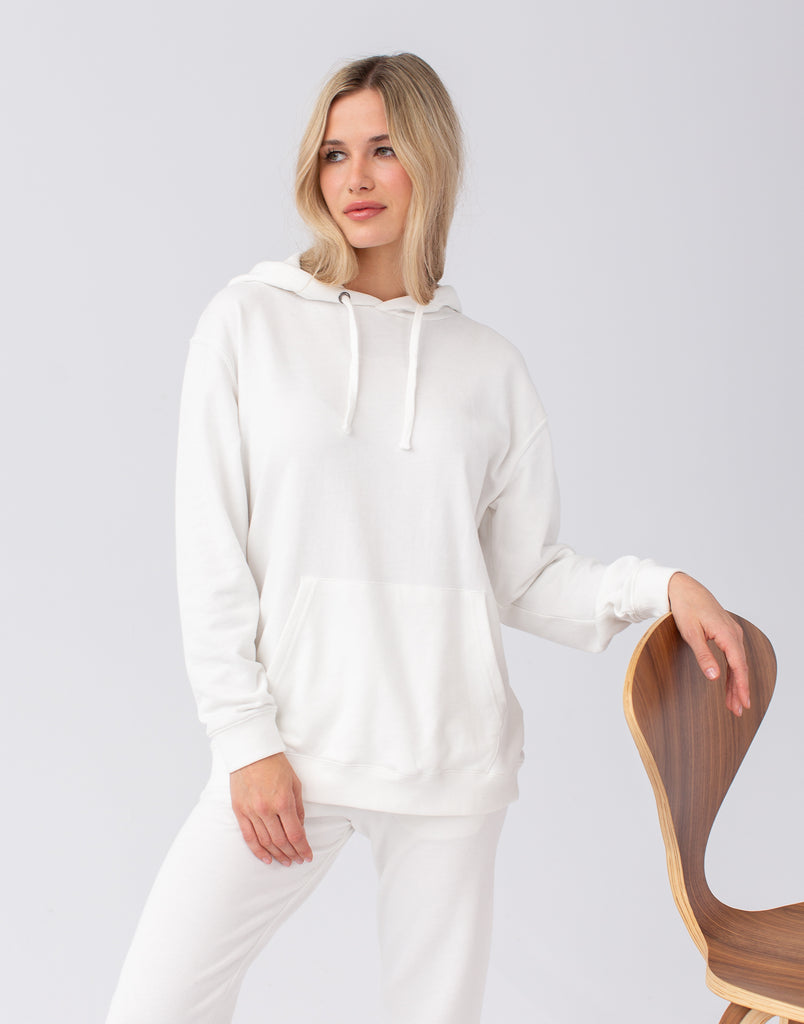 Marshmallow Oversized  Boyfriend Hoodie Active Collection Yoga Jeans