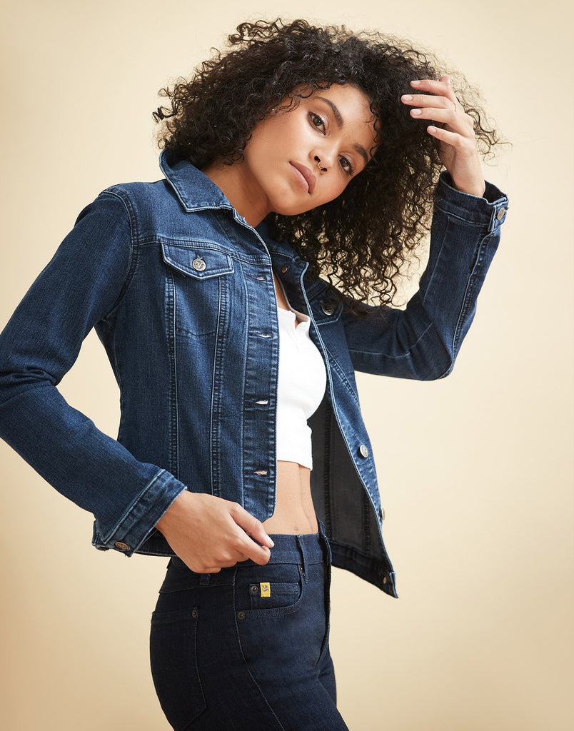 Classic Jean Jacket Classic Blue Yoga Jeans