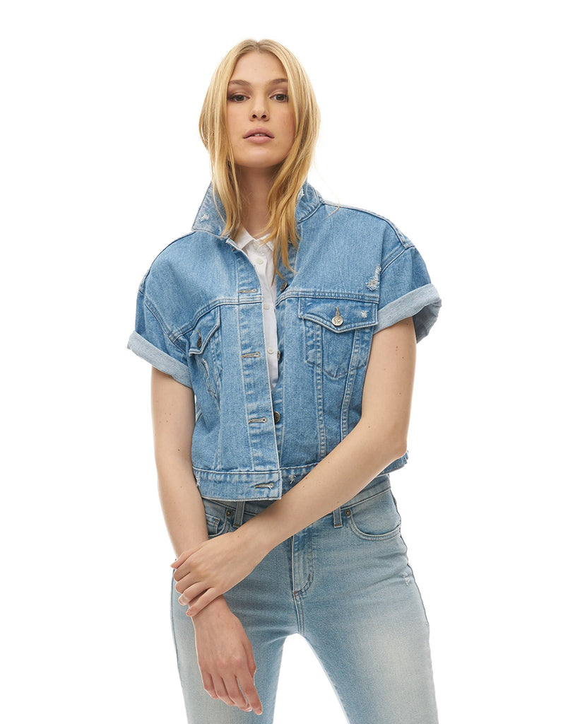 Jean Jacket Clear Sky Yoga Jeans