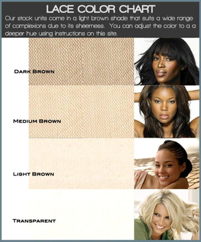Wig Lace Color Guide