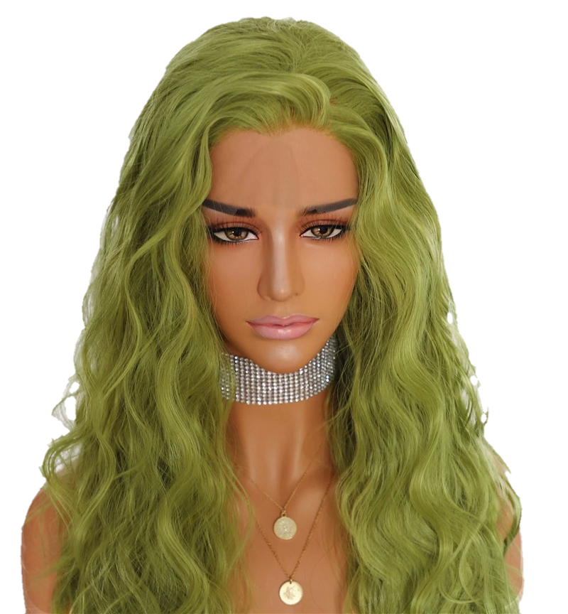 Buy RIBEIRO Green Lace Front Wig | Luxury Wigs | Essence Luxe Couture