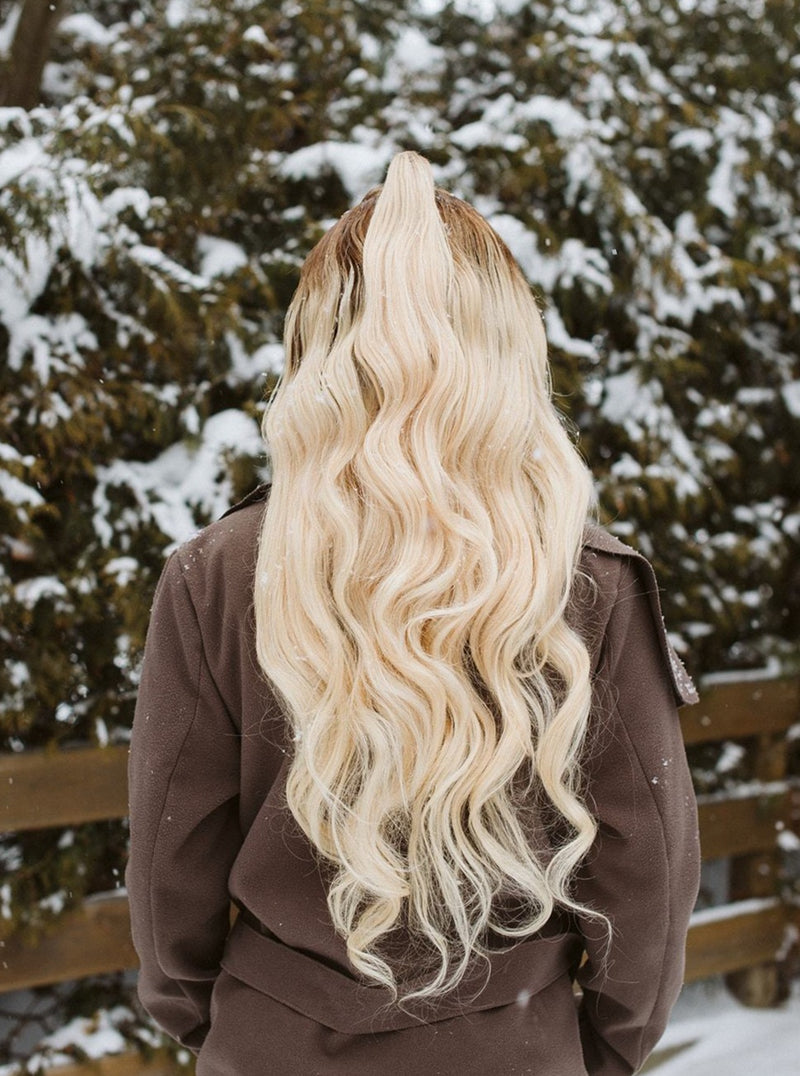 Cème KORS Human Hair Wig | Custom-fit Blonde Balayage Full Lace Wig | Essence Luxe Couture Wig