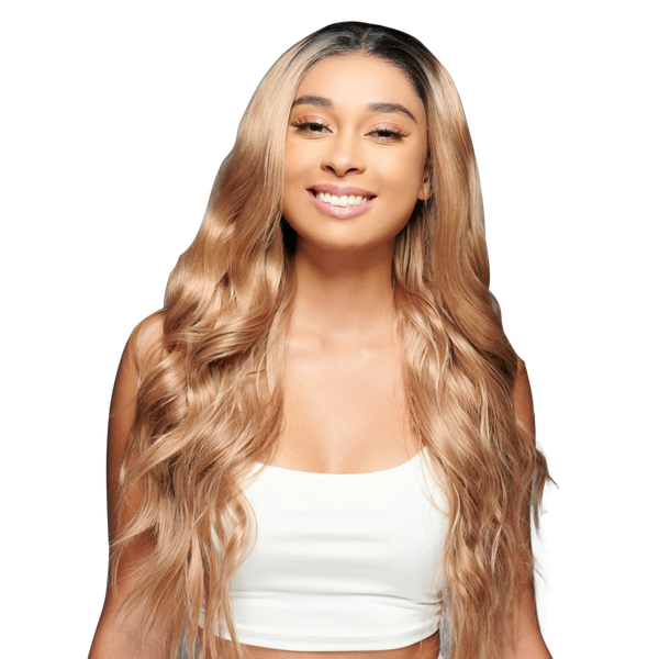 'Best of Both Worlds' Synthetic Wig | Dark Blonde Wig | Essence Luxe Couture Wigs