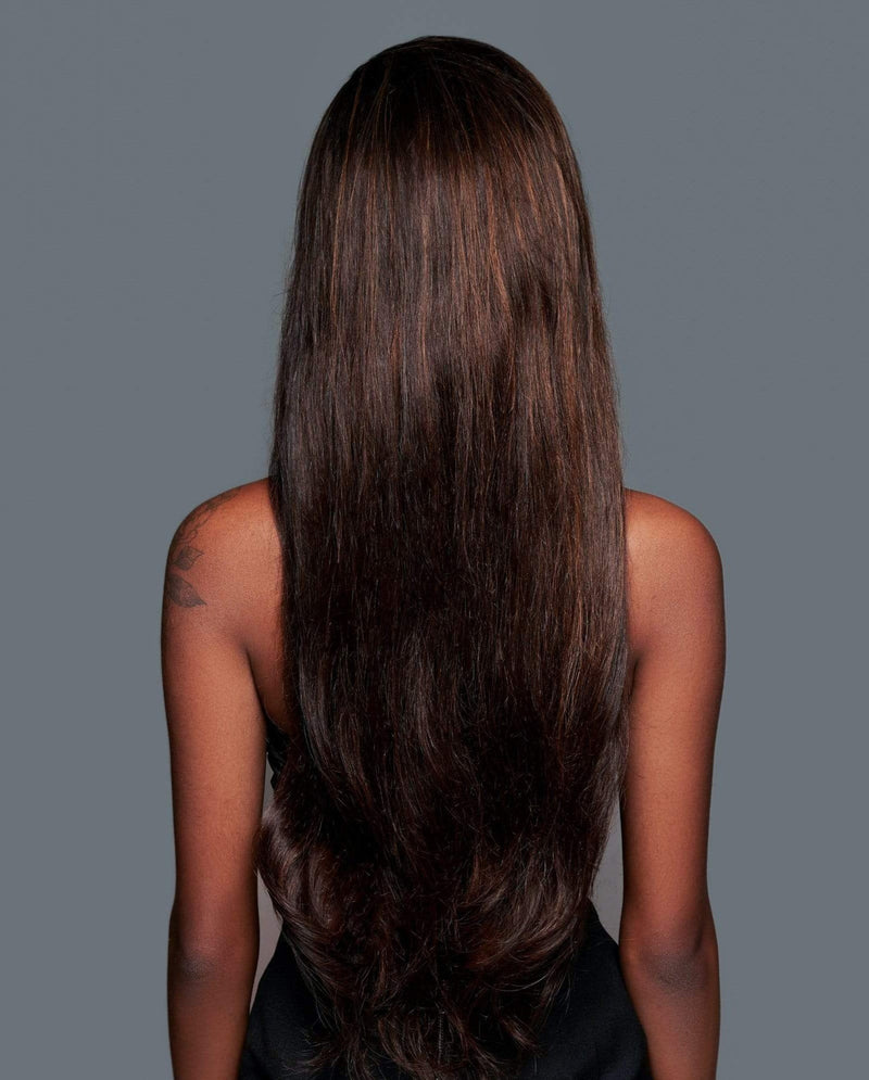 'Bottega' Human Hair Wig | Long Highlighted Brown Lace Wig | Essence Luxe Couture Wigs