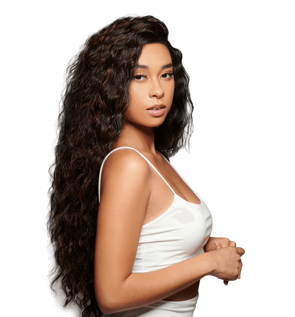Cleopatra Synthetic Wig | Black Curly Lace Wig | Essence Luxe Couture Wigs