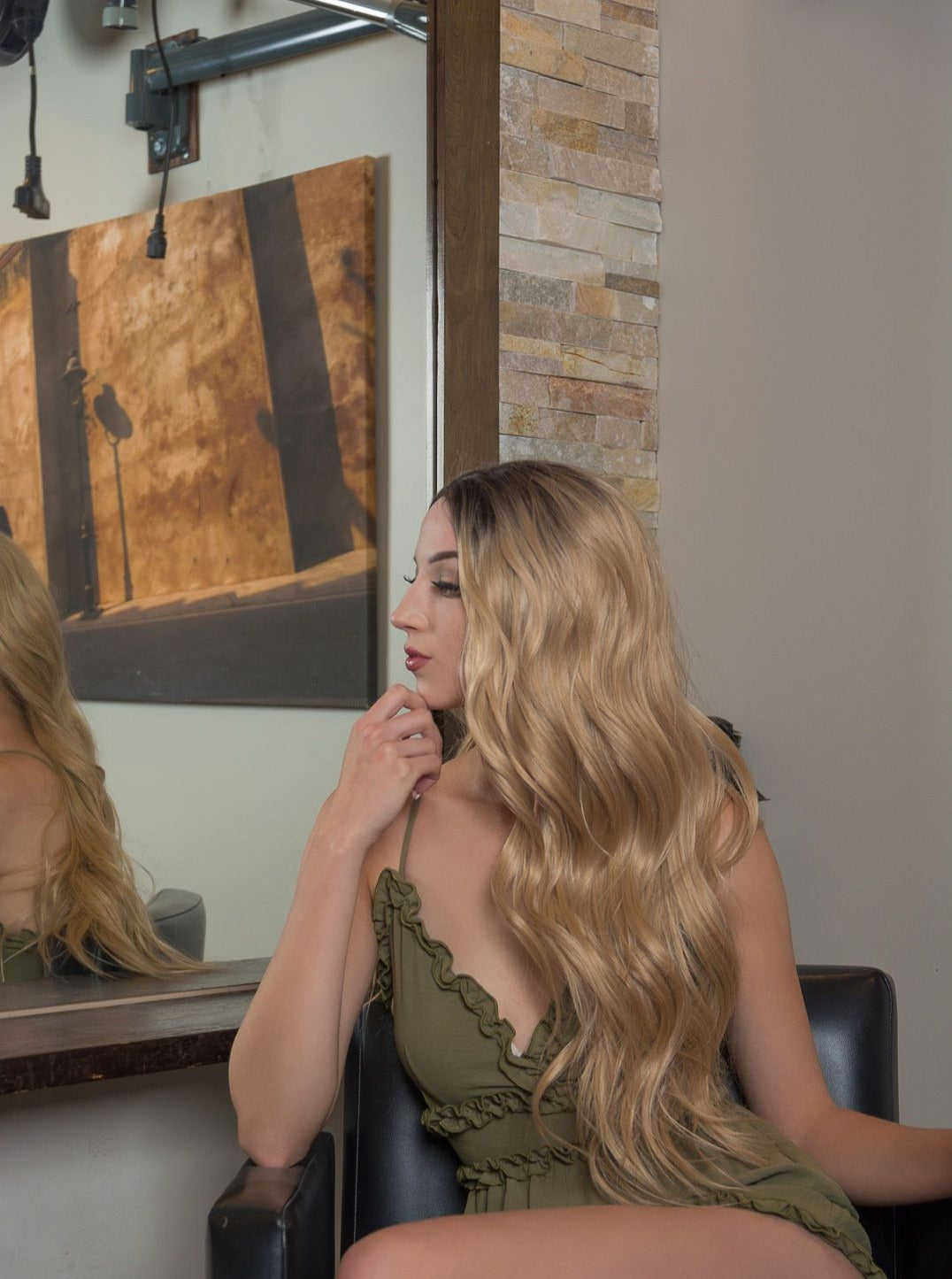 Realistic Long Rooted Ombre Blonde Lace Front Wig | Proudly Canadian