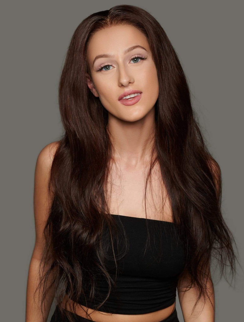 'Bontoni' Custom Human Hair Wig | Long Brown Luxury Wig | Essence Luxe Couture Wigs
