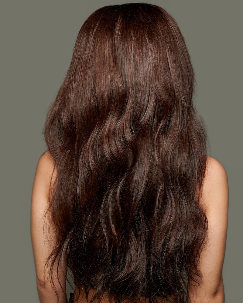 'Bontoni' Human Hair Wig | Long Brown Luxury Realistic Wig | Essence Luxe Couture Wigs