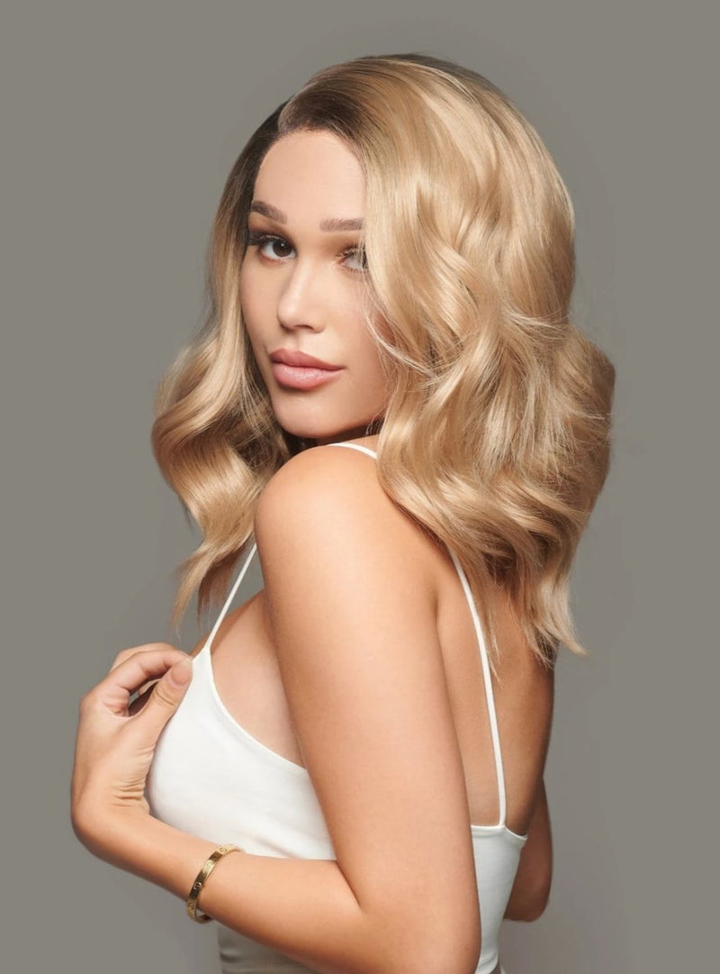 'Forever Young' Synthetic Lace Wigs | Short Blonde Lace Wig | Essence LuxeCouture Wigs