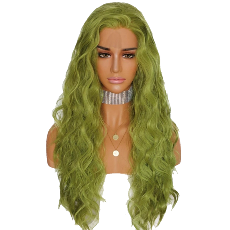 Buy RIBEIRO Green Lace Front Wig Synthetic | Luxury Wigs | Essence Luxe Couture