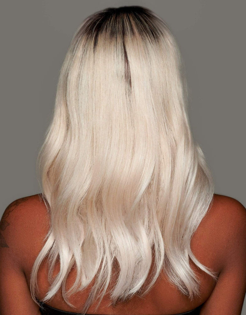 'Marquise' Human Hair Wig | Rooted Silk Top Platinum Lace Front Wig | Essence Luxe Couture Wigs