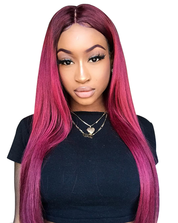 Buy Wine Leon | Deep Wine Red Luxury Lace Wig | Essence Luxe Couture