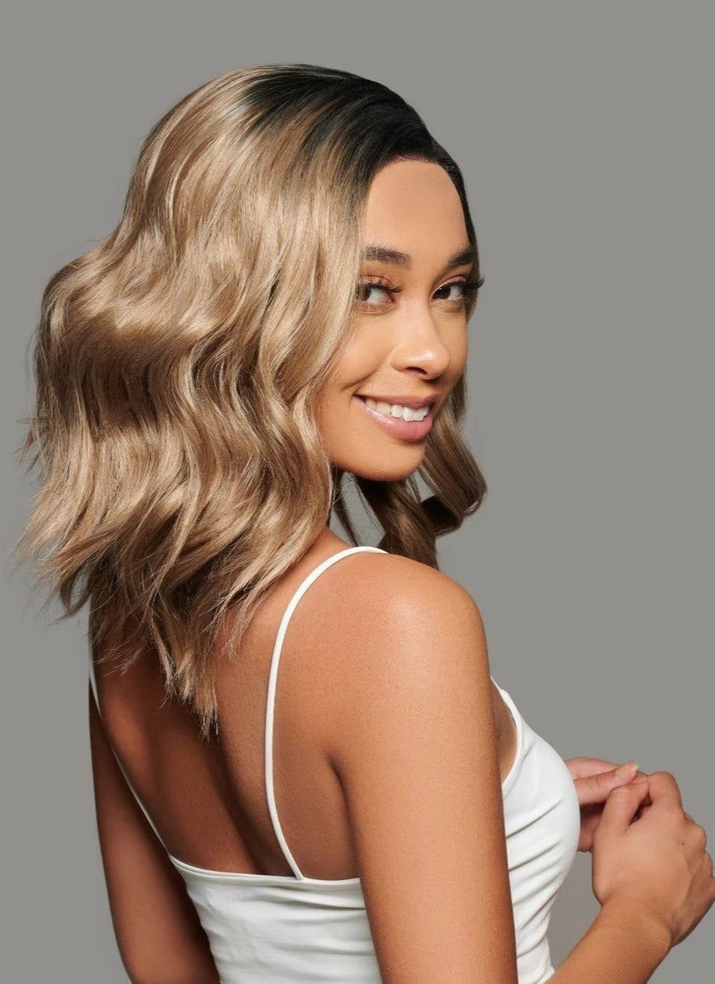 'One-of-a-Kind' Synthetic Wig | Curly Short Blonde Luxury Lace Wig | Essence Luxe Couture Wigs
