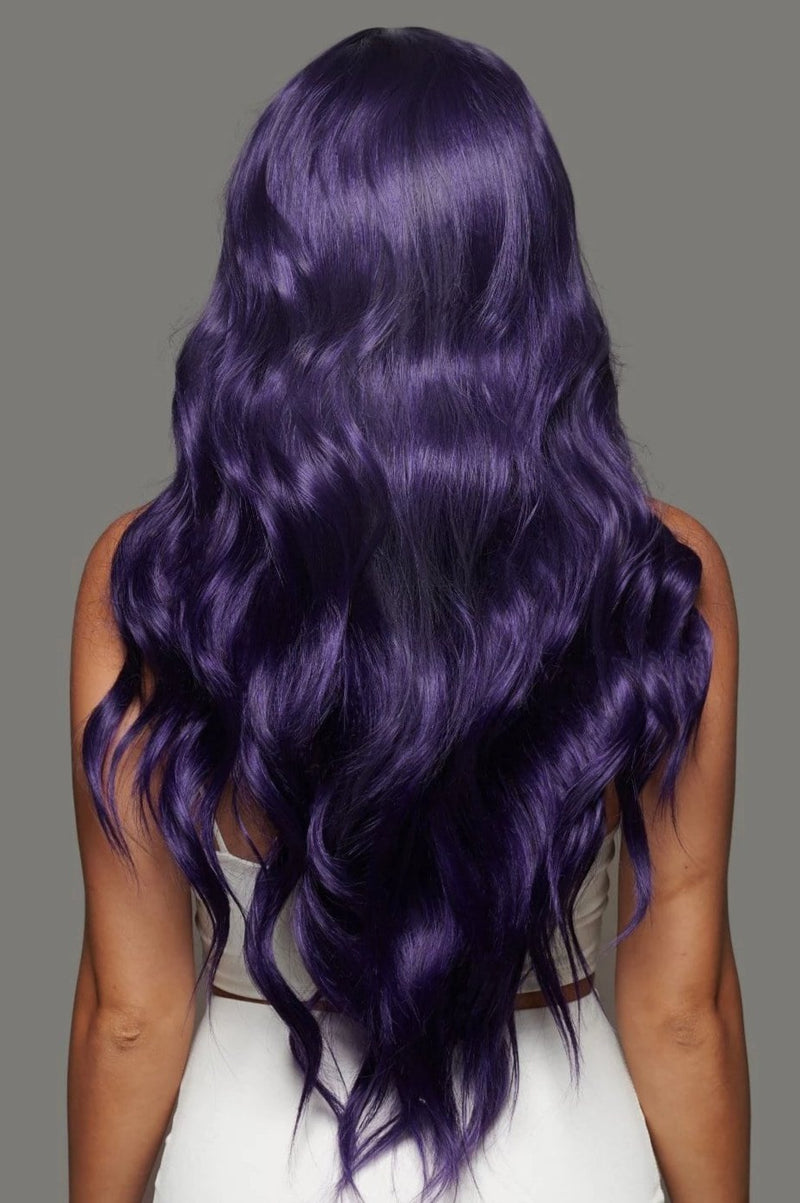 Purple Haze Synthetic Lace Wig | Long Dark Luxury Lace Wig | Essence Luxe Couture Wigs