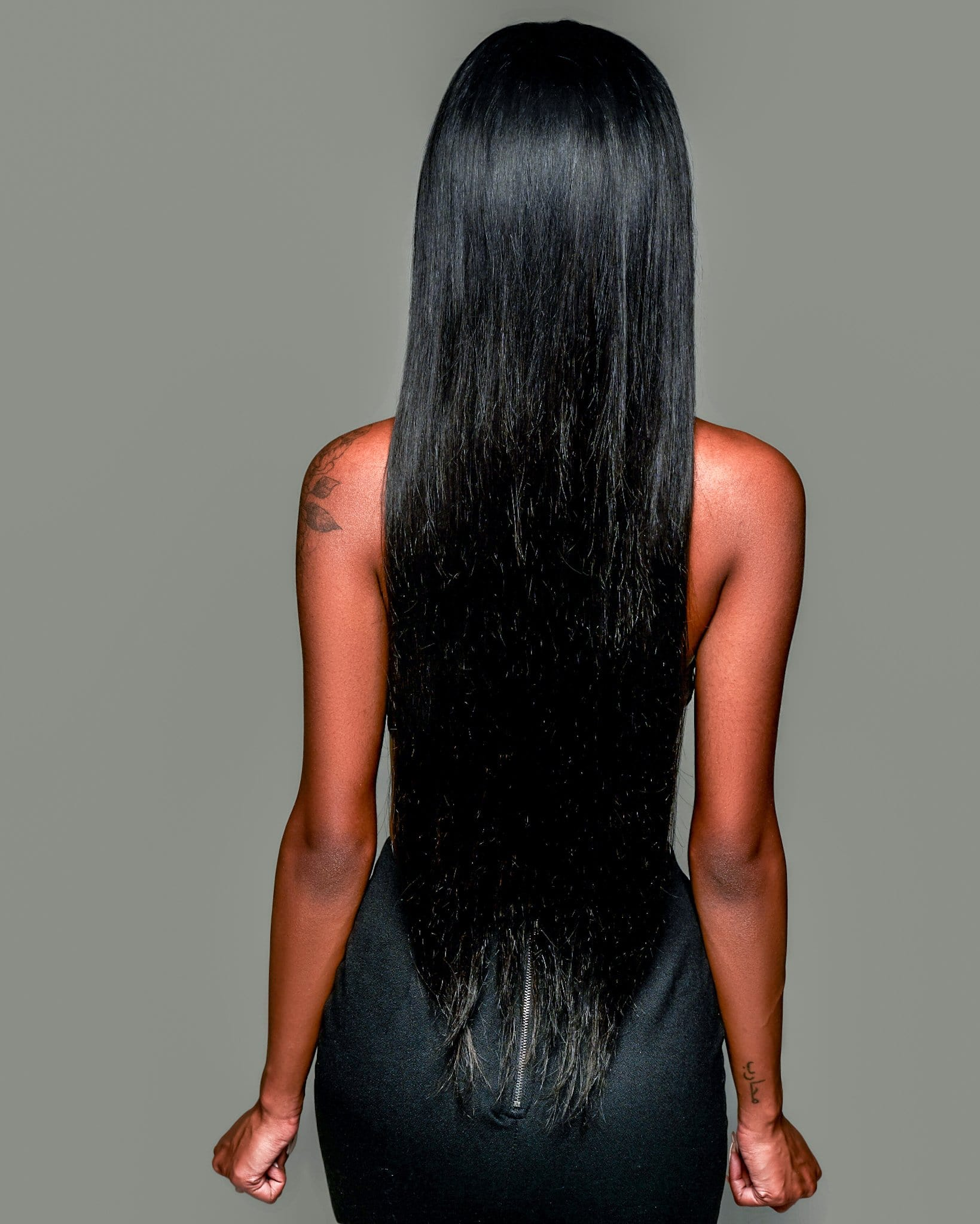 "'Soeurs' Human Hair Wig | 28"" Long Black Lace Wig 
