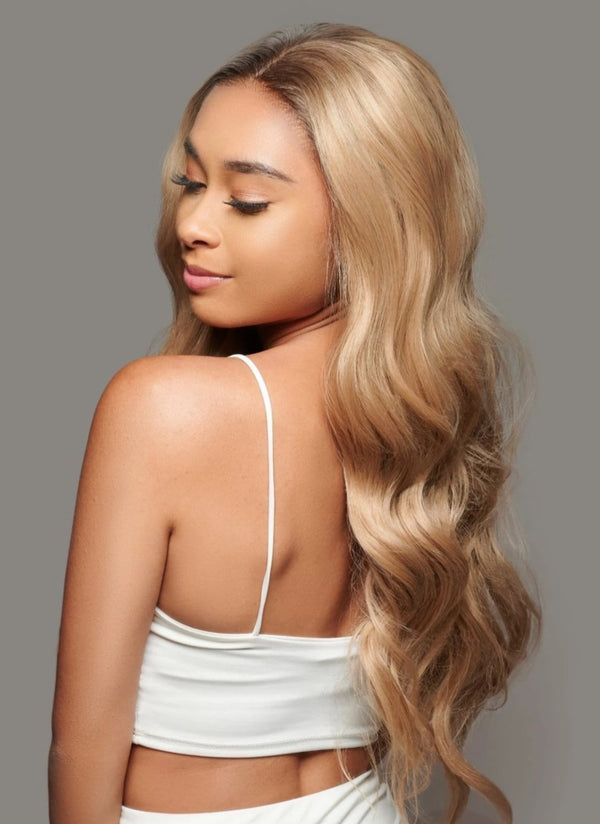 'Stand By Me' Synthetic Wig | Long Rooted Blonde Lace Wig | Essence Luxe Couture Wigs