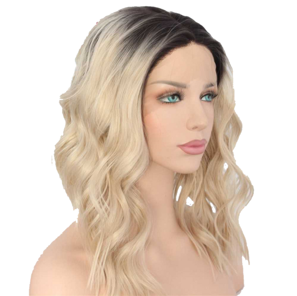 Buy ANNE Butterscotch Blonde Synthetic Bob Wig | Essence Luxe Couture (Side)