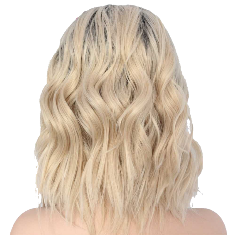 Buy ANNE Butterscotch Blonde Synthetic Bob Wig | Essence Luxe Couture (Back)