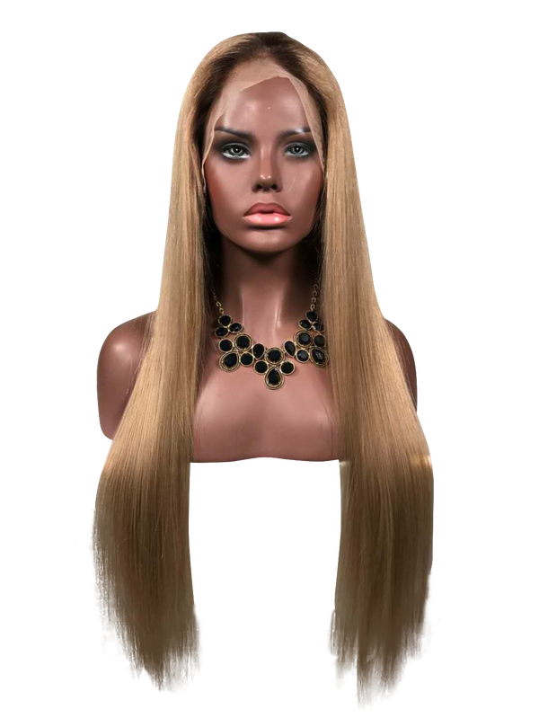 Buy BERLUTI Handmade Golden Blonde Full Lace Human Hair Wig | Essence Luxe Couture (Front)