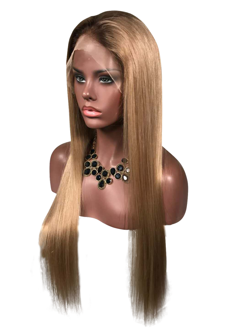 Buy BERLUTI Handmade Golden Blonde Full Lace Human Hair Wig | Essence Luxe Couture (Side)