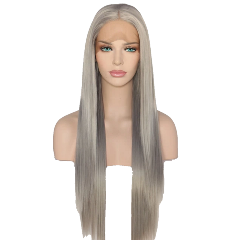 Buy BOUE Silver Synthetic Wig | Luxury Wigs - Essence Luxe Couture