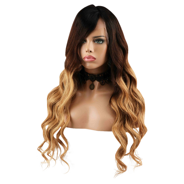 Buy Cashmere ALAÏA | 3-Tone Blonde Ombre Wig | Essence Luxe Couture (Side)