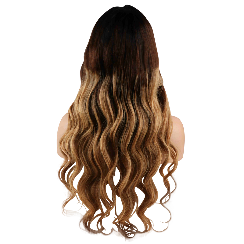 Buy Cashmere ALAÏA | 3-Tone Blonde Ombre Wig | Essence Luxe Couture (Back)