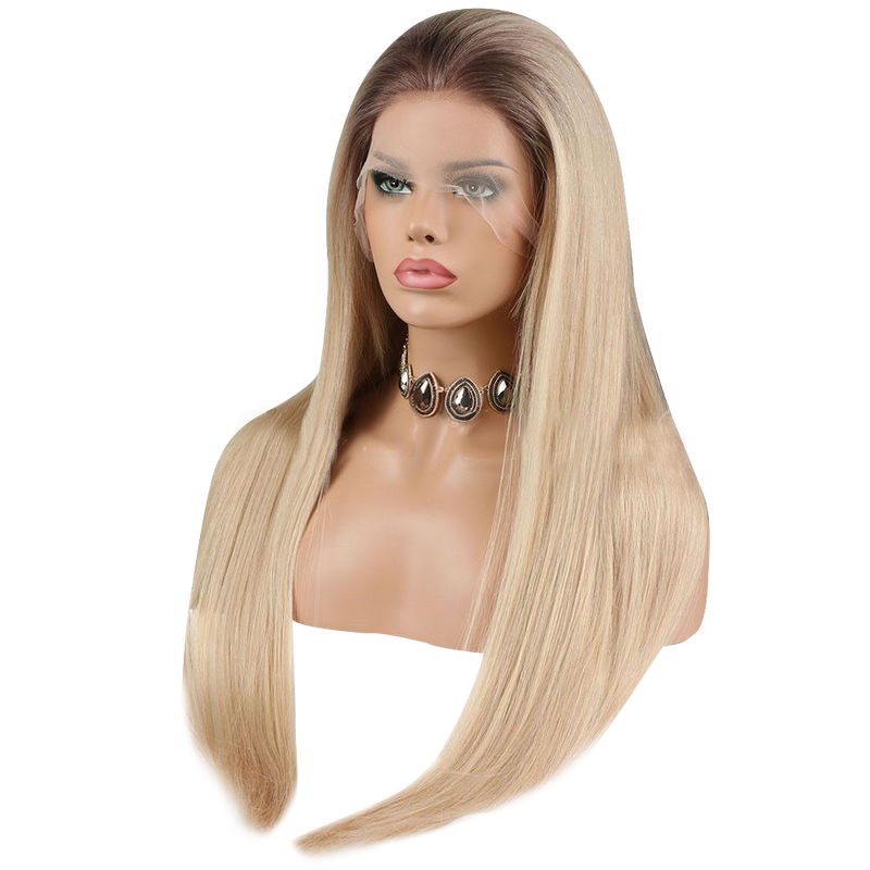 Buy Cashmere BONIA | Blonde Wig with Dark Roots | Essence Luxe Couture (Side)