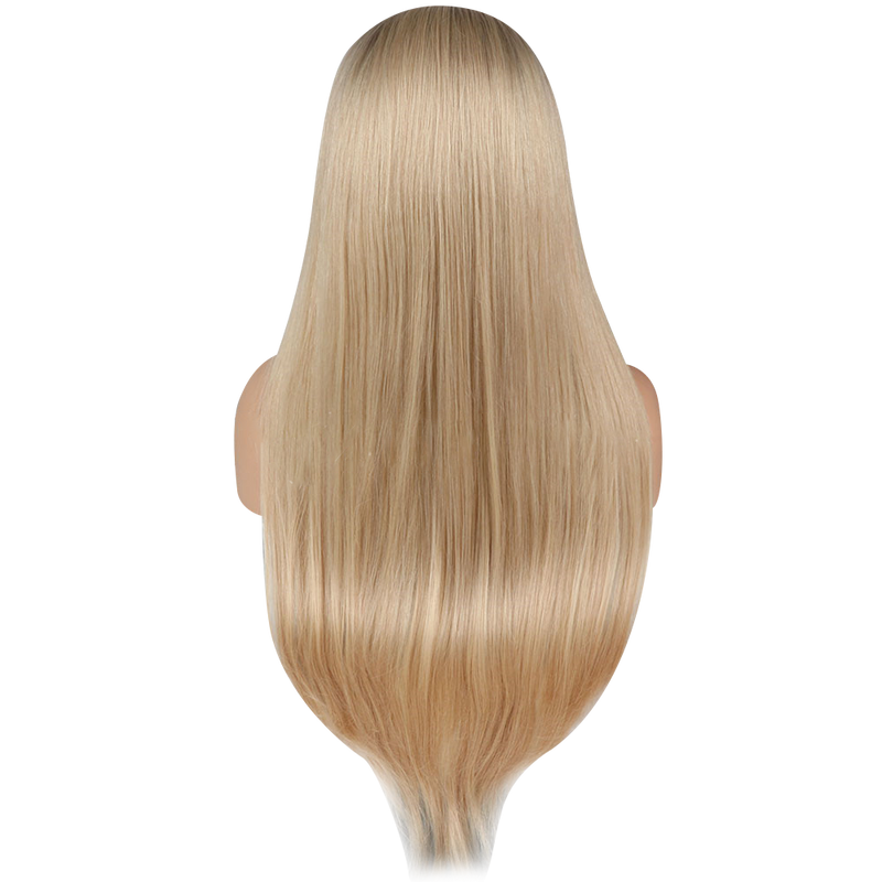 Buy Cashmere BONIA | Blonde Wig with Dark Roots | Essence Luxe Couture (Back)