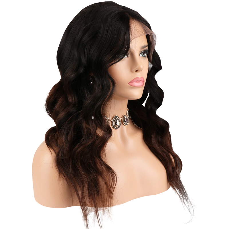 Buy Cashmere CAPELLINO | Balayage Luxury Lace Wig | Essence Couture (Side)