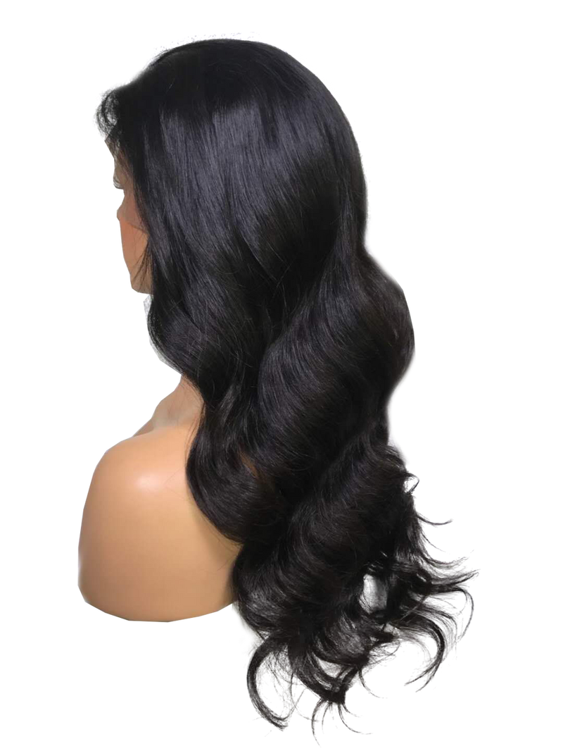 Buy Cashmere COLCCI | Black Body Wave Luxury Wig | Essence Couture (Side Back)