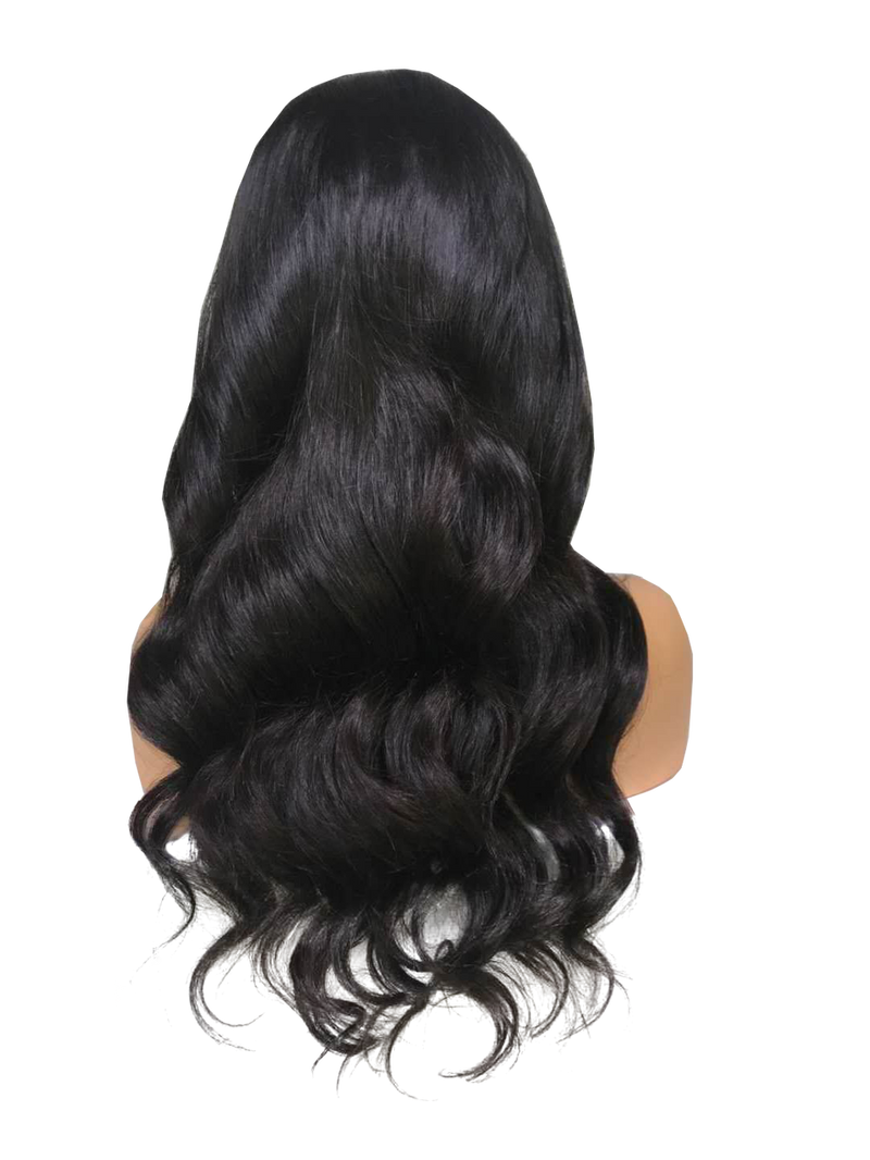 Buy Cashmere COLCCI | Black Body Wave Luxury Wig | Essence Couture (Back)