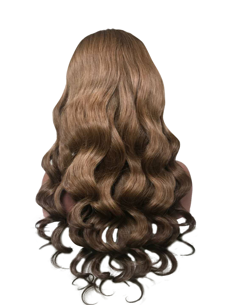 Buy Cashmere MCQUEEN | Custom Brown Handmade Wig | Essence Couture (Back)