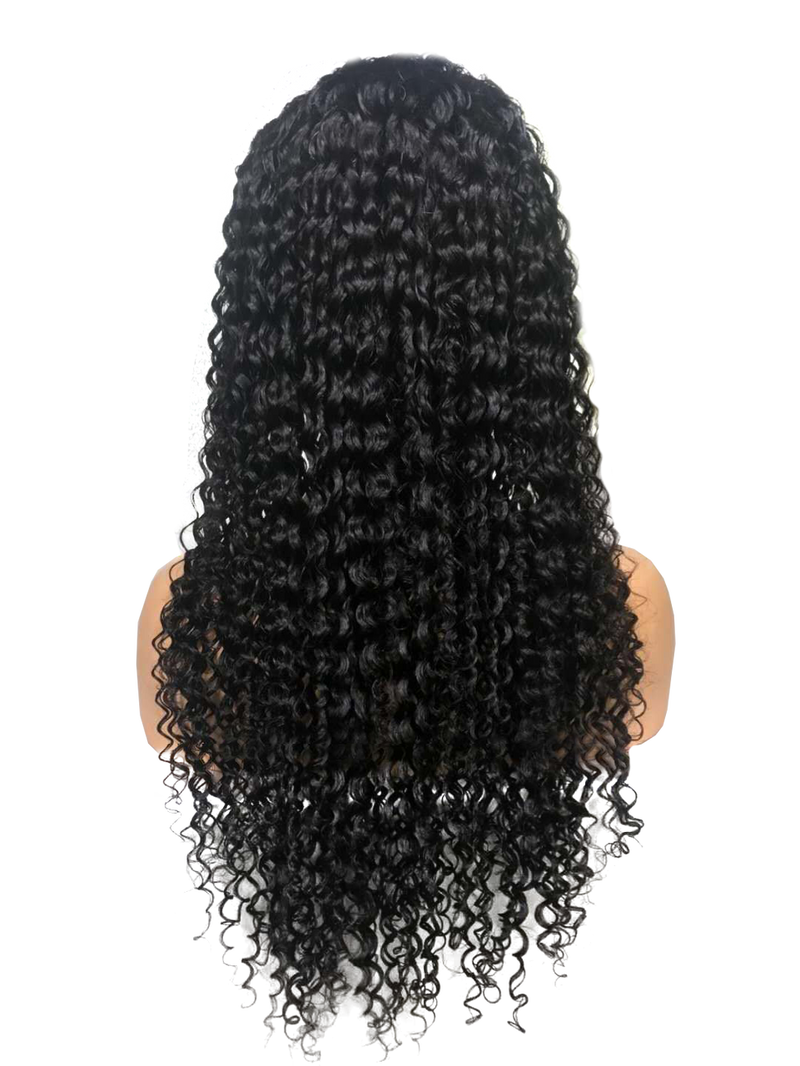 Buy Cashmere CROLLA | Full Lace Deep Wave Wig | Essence Luxe Couture (Back)