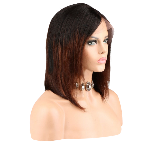 Buy ESCADA | Brown Balayage Ombre Full Lace Wig | Essence Luxe Couture - Side