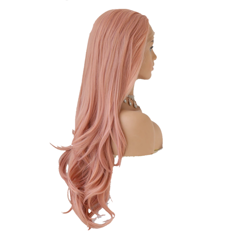 Buy PASE Blush Pink Lace Front Wig | Luxury Wigs - Essence Couture (Side)