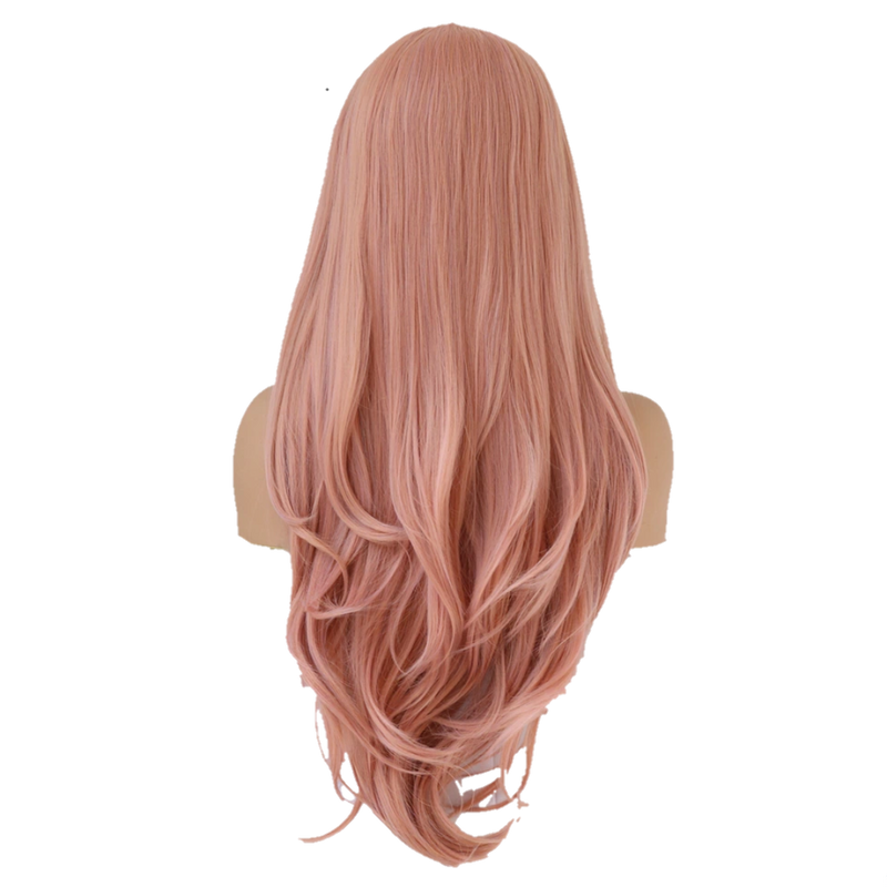 Buy PASE Blush Pink Lace Front Wig | Luxury Wigs - Essence Couture (Back)