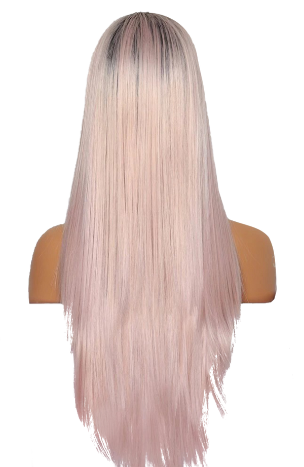 Buy LATTA Rooted Long Neon Pink Wig | Luxury Wigs | Essence Lu Couture