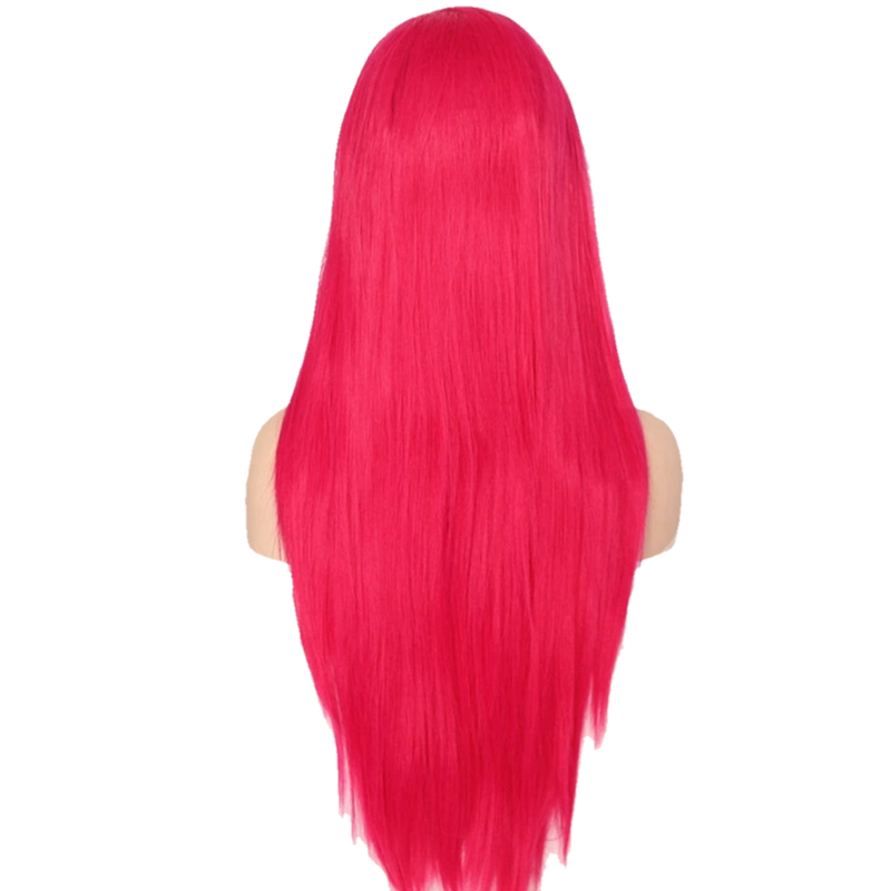 Buy Magenta Pink KYLIE Jenner Wig | Luxury Wigs - Essence Luxe Couture (Back)