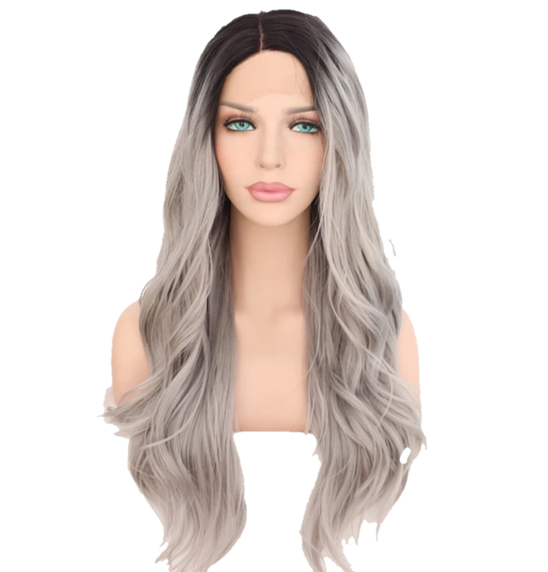 Buy Luxury EXTÈ | Synthetic Grey Ombre Lace Wig | Essence Luxe Couture