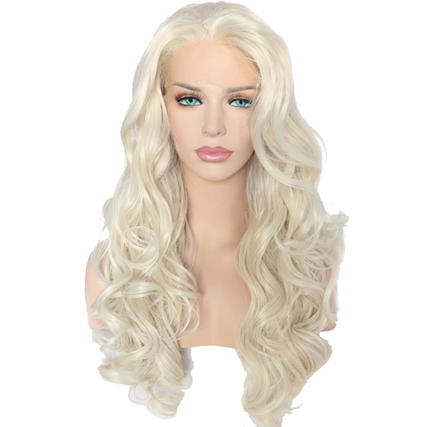 Buy FORD Long Platinum Blonde Wig | Luxury Wigs - Essence Luxe Couture