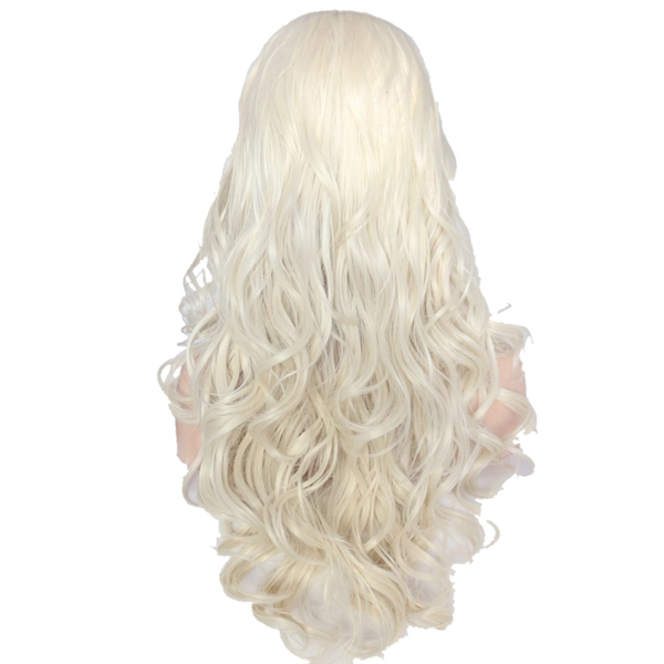 Buy FORD Long Platinum Blonde Wig | Luxury Wigs - Essence Luxe Couture (Back)