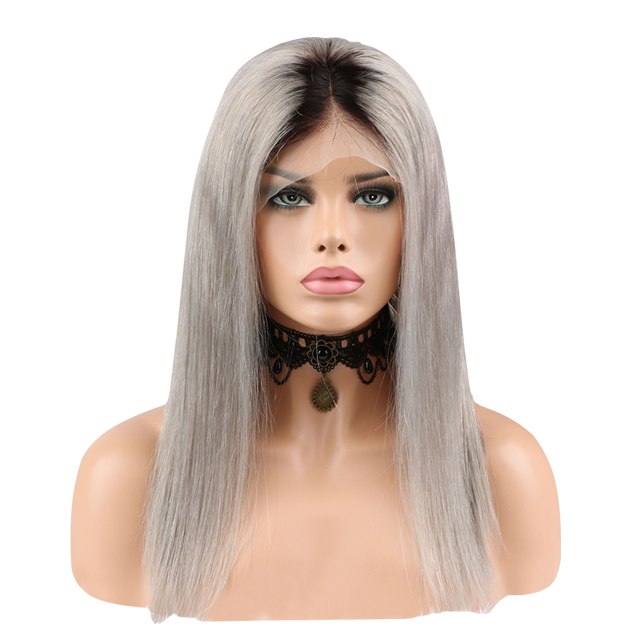 Buy Silver FERRÈ | Full Lace Silver Hair Wig | Essence Luxe Couture