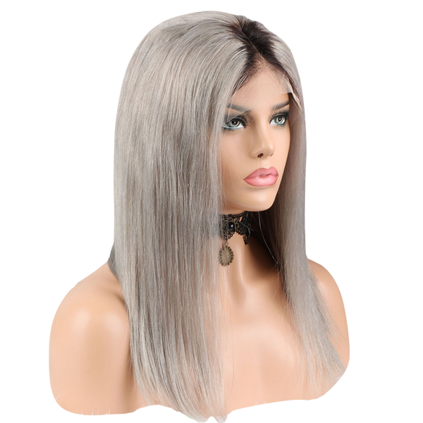 Buy Silver FERRÈ | Full Lace Silver Hair Wig | Essence Luxe Couture (Side)