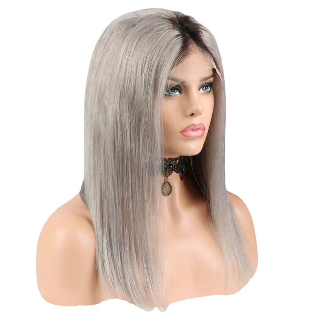 Buy Silver FERRÈ | Full Lace Silver Lace Wig | Essence Luxe Couture