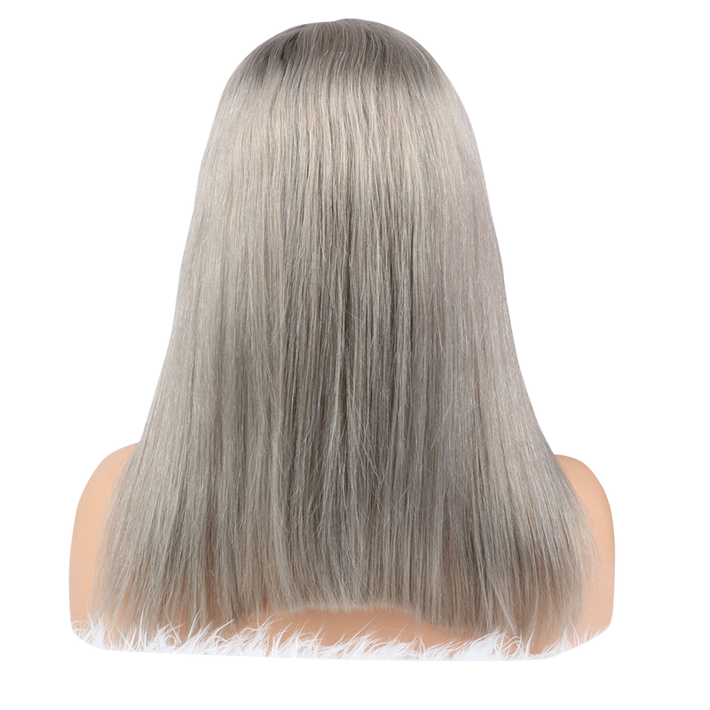 Buy Silver FERRÈ | Full Lace Silver Hair Wig | Essence Luxe Couture (Back)