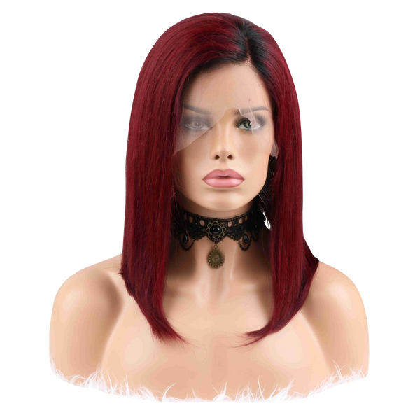 The Dark Red TARTAN Lace Front Wig