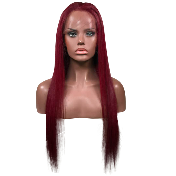 Buy Wine Leon | Deep Wine Red Luxury Full Lace Wig | Essence Luxe Couture