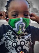 Load image into Gallery viewer, KIDS African Print Fabric Face Masks- Random Color Selection